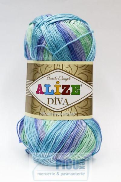 Poze Fir de tricotat sau crosetat - Fir microfibra ALIZE DIVA BATIK DEGRADE 1767