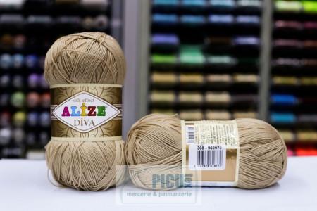 Poze Fir de tricotat sau crosetat - Fir microfibra ALIZE DIVA BEJ 368