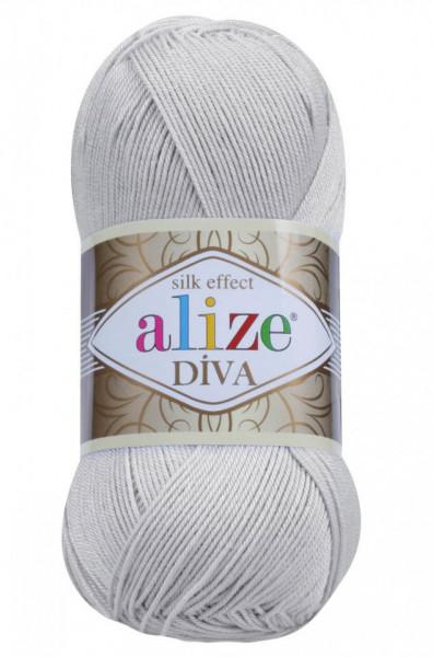 Poze Fir de tricotat sau crosetat - Fir microfibra ALIZE DIVA GRI 168