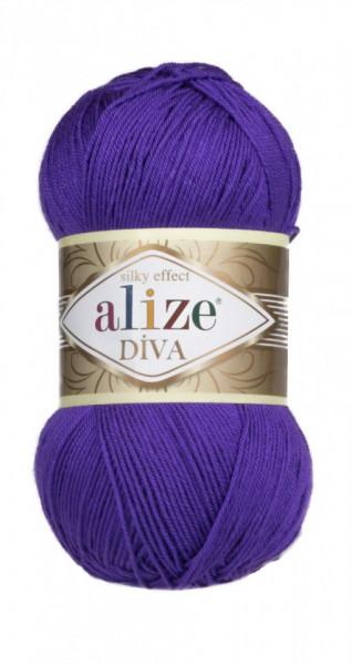 Poze Fir de tricotat sau crosetat - Fir microfibra ALIZE DIVA MOV 252
