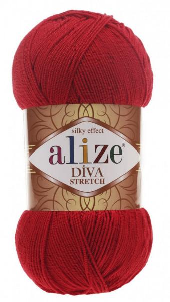 Poze Fir de tricotat sau crosetat - Fir microfibra ALIZE DIVA STRETCH ROSU 106