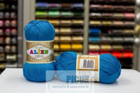 Poze Fir de tricotat sau crosetat - Fir microfibra ALIZE DIVA TURQUAZ 245