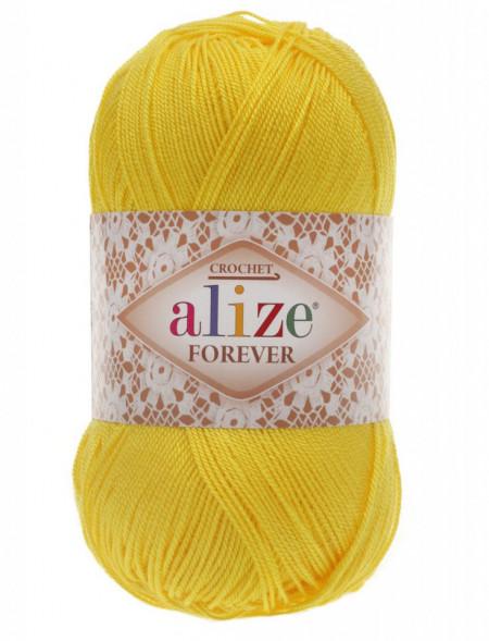 Poze Fir de tricotat sau crosetat - Fir microfibra ALIZE FOREVER GALBEN 110