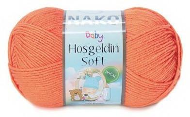 Poze Fir de tricotat sau crosetat - Fire amestec BAMBUS + POLIAMIDA NAKO Hoşgeldin Soft Portocaliu 4570