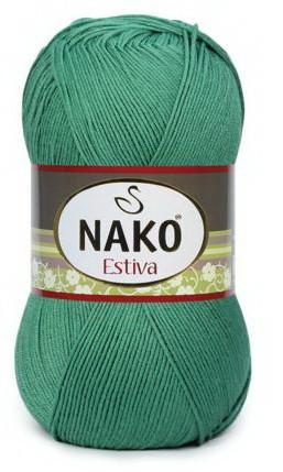Poze Fir de tricotat sau crosetat - Fire amestec Bumbac + Bambus NAKO ESTIVA VERDE 11914