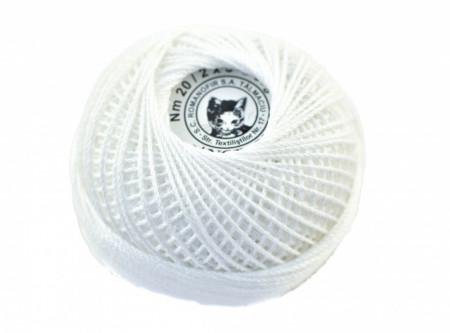 Poze Fir de tricotat sau crosetat - Fire Bumbac 100% CROSET ROMANOFIR BOBINA ALB 1202
