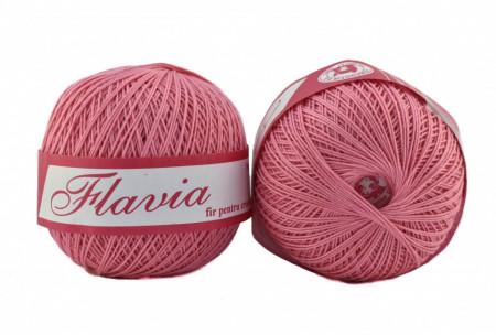 Poze Fir de tricotat sau crosetat - Fire Bumbac 100% FLAVIA ROMANOFIR BOBINA ROZ 1210