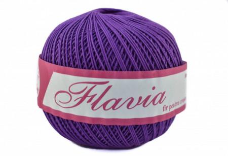 Poze Fir de tricotat sau crosetat - Fire Bumbac 100% FLAVIA ROMANOFIR BOBINA MOV 1226
