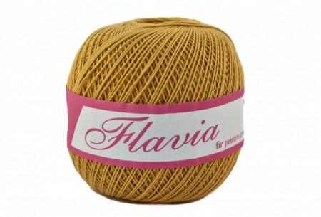 Poze Fir de tricotat sau crosetat - Fire Bumbac 100% FLAVIA ROMANOFIR BOBINA MUSTAR 1315