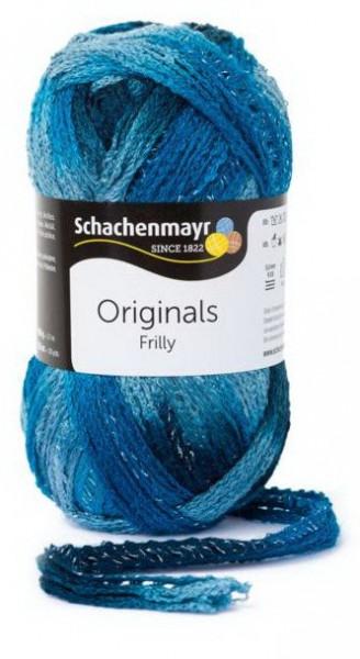 Poze Fir de tricotat sau crosetat - Fire pretricotate esarfa FRILLY degrade 083