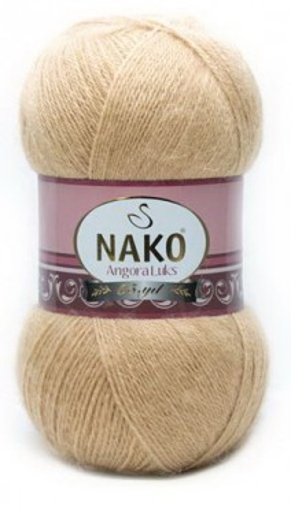 Poze Fir de tricotat sau crosetat - Fire tip mohair acril NAKO ANGORA LUKS BEJ 6944