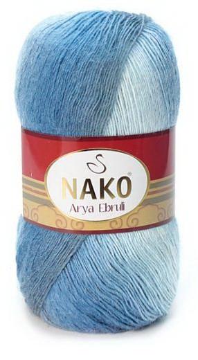 Poze Fir de tricotat sau crosetat - Fire tip mohair acril NAKO ARYA EBRULI DEGRADE 86404