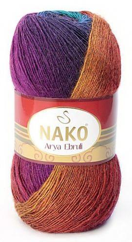 Poze Fir de tricotat sau crosetat - Fire tip mohair acril NAKO ARYA EBRULI DEGRADE 86411