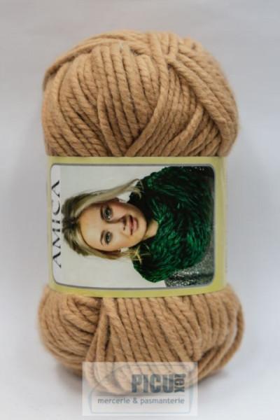 Poze Fir de tricotat sau crosetat - Fire tip mohair din acril AMICA BEJ - 317