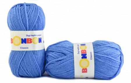 Poze Fir de tricotat sau crosetat - Fire tip mohair din acril BONBON CLASIC BLEO 98236