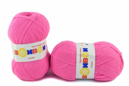 Poze Fir de tricotat sau crosetat - Fire tip mohair din acril BONBON KRISTAL roz 98240