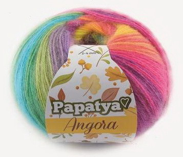 Poze Fir de tricotat sau crosetat - Fire tip mohair din acril Kamgarn Papatya Angora degrade 37