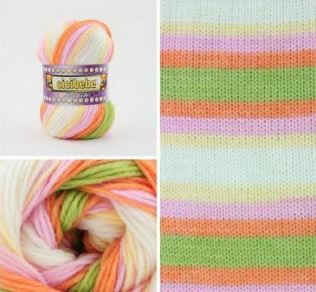 Poze Fir de tricotat sau crosetat - Fire tip mohair din acril Kamgarn Cicibebe Batik degrade 04