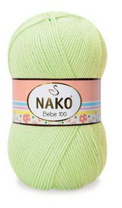 Poze Fir de tricotat sau crosetat - Fire tip mohair din acril Nako Baby vernil 5819