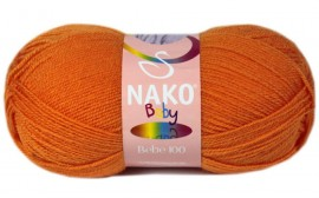 Poze Fir de tricotat sau crosetat - Fire tip mohair din acril Nako Baby PORTOCALIU 10157
