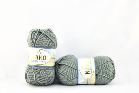 Poze Fir de tricotat sau crosetat - Fire tip mohair din acril Nako Baby MARVEL GRI 9028