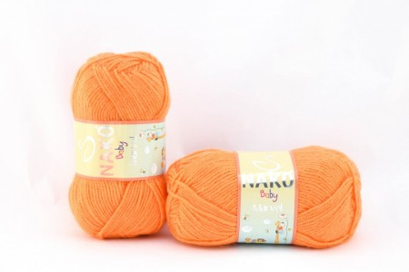 Poze Fir de tricotat sau crosetat - Fire tip mohair din acril Nako Baby MARVEL PORTOCALIU 10157