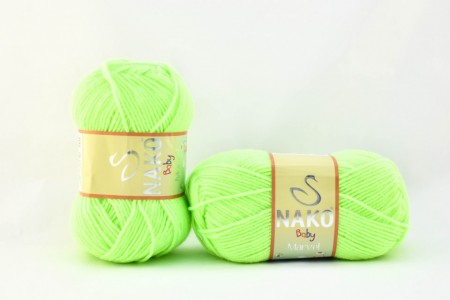 Poze Fir de tricotat sau crosetat - Fire tip mohair din acril Nako Baby MARVEL VERDE (FLUO) 3304