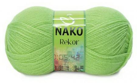 Poze Fir de tricotat sau crosetat - Fire tip mohair din acril premium Nako REKOR VERDE 5086