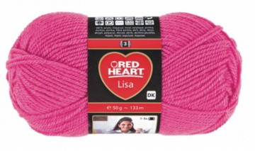 Poze Fir de tricotat sau crosetat - Fire tip mohair din acril RED HEART LISA UNI ROZ 8305