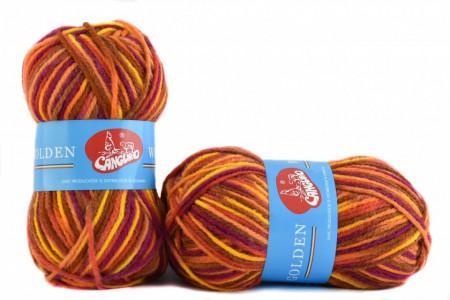 Poze Fir de tricotat sau crosetat - Fire tip mohair din acril si lana GOLDEN WOOL IMPRIMAT - 374
