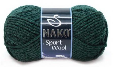 Poze Fir de tricotat sau crosetat - Fire tip mohair din acril si lana Nako Sport Wool Verde 1873