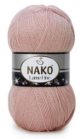 Poze Fir de tricotat sau crosetat - Fire tip mohair din acril si poliester metalic NAKO LAME FINE BEJ 10569SE