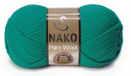 Poze Fir de tricotat sau crosetat - Fire tip mohair din lana 100% Nako PURE WOOL VERDE 10327