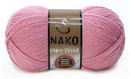 Poze Fir de tricotat sau crosetat - Fire tip mohair din lana 100% Nako PURE WOOL ROZ 275