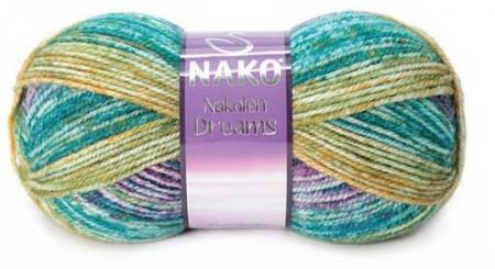 Poze Fir de tricotat sau crosetat - Fire tip mohair din lana 49% si acril 51% Nakolen DREAMS degrade 31562