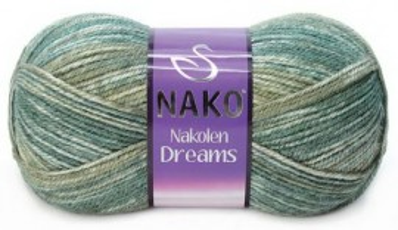 Poze Fir de tricotat sau crosetat - Fire tip mohair din lana 49% si acril 51% Nakolen DREAMS degrade 31444