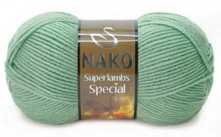 Poze Fir de tricotat sau crosetat - Fire tip mohair din lana 50% si acril 50% Nako Superlambs Special VERDE 10483