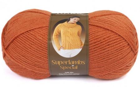 Poze Fir de tricotat sau crosetat - Fire tip mohair din lana 50% si acril 50% Nako Superlambs Special oranj 2526