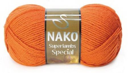 Poze Fir de tricotat sau crosetat - Fire tip mohair din lana 50% si acril 50% Nako Superlambs Special Portocaliu 4888