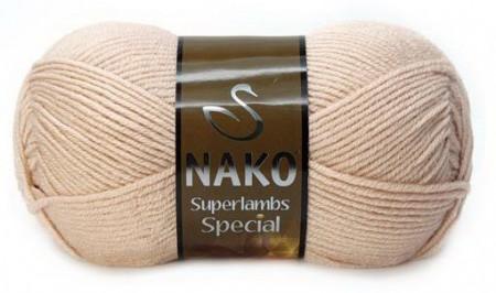 Poze Fir de tricotat sau crosetat - Fire tip mohair din lana 50% si acril 50% Nako Superlambs Special BEJ 10042