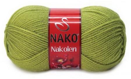 Poze Fir de tricotat sau crosetat - Fire tip mohair din lana 50% si acril 50% Nakolen VERDE 23107