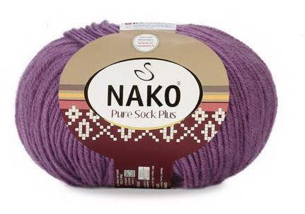 Poze Fir de tricotat sau crosetat - Fire tip mohair din lana si polyamida Nako PURE SOCK PLUS MOV 10506