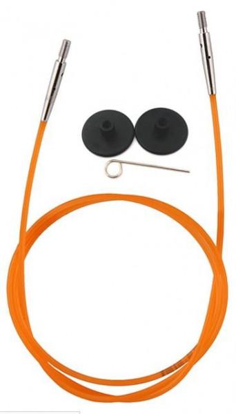 Poze KnitPro Accesorii - cablu culoare portocalie pentru interconectare
