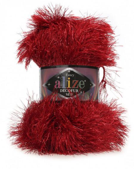 Poze Fir de tricotat sau crosetat - FANCY - ALIZE DECOFUR SIM - ROSU ADS - 56