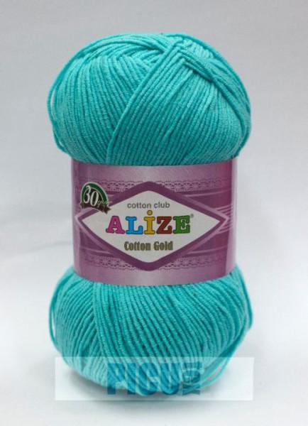 Poze Fir de tricotat sau crosetat - Fir ALIZE COTTON GOLD BLEO 287