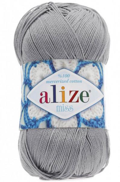 Poze Fir de tricotat sau crosetat - Fir BUMBAC 100% ALIZE MISS GRI 496
