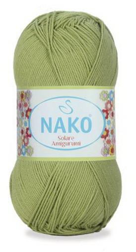 Poze Fir de tricotat sau crosetat - Fir BUMBAC 100% NAKO SOLARE AMIGURUMI VERDE 6688