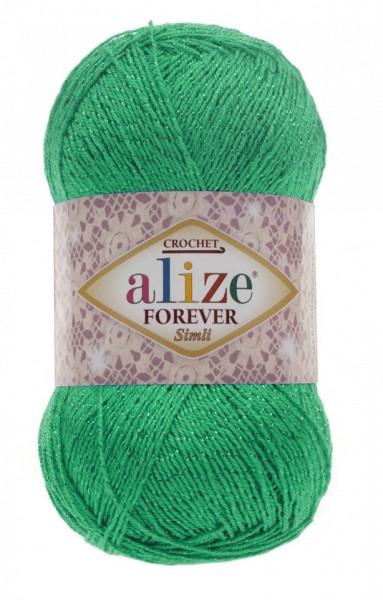 Poze Fir de tricotat sau crosetat - Fir microfibra ALIZE FOREVER SIMLI VERDE 328