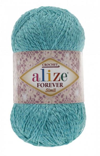 Poze Fir de tricotat sau crosetat - Fir microfibra ALIZE FOREVER SIMLI TURQUAZ 376