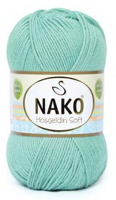 Poze Fir de tricotat sau crosetat - Fire amestec BAMBUS + POLIAMIDA NAKO Hoşgeldin Soft Bleo 10600